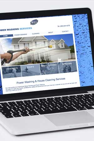 Website design – Cleaning services website